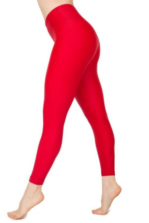 Footless Red Ballerina Leggings