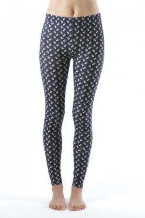 Skull and CrossBones Ankle Leggings