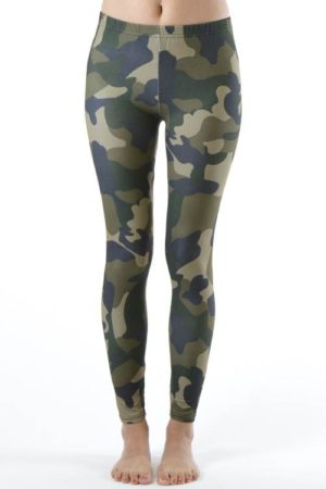 Army Camo Print  Ankle Leggings
