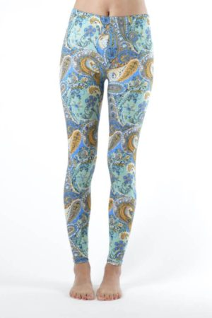 Baby Blue Ivy Paisley Ankle Leggings
