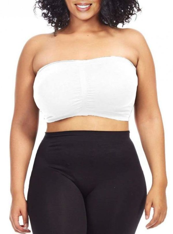 Stone Colored Plus Size Bandeau