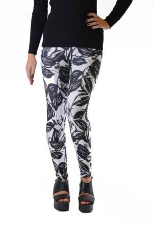 Black Leaf Silhouette Plus Size Leggings