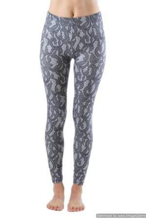 Elegant Lace Plus Size Ankle Leggings