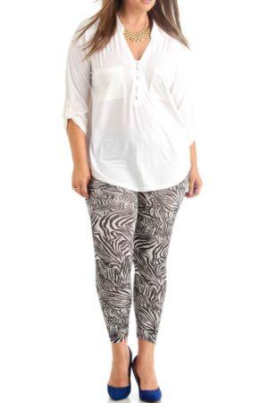 Plus Size Zebra Style Ankle Leggings