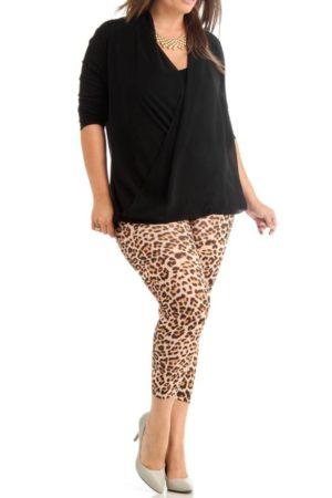 Plus Size Leopard Print Ankle Leggings