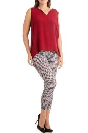2D Geometric  Plus Size Ankle Leggings
