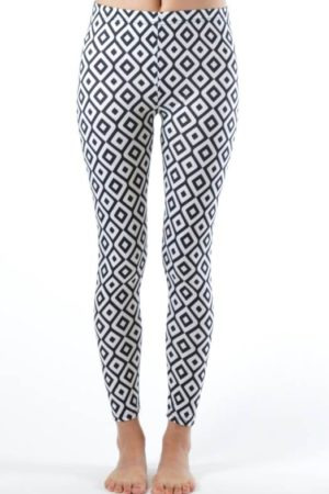 Plus Size Ankle Length Hypnotic Diamond Leggings