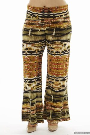 High Waist Orange Egyptian Plus Size Palazzo Pants