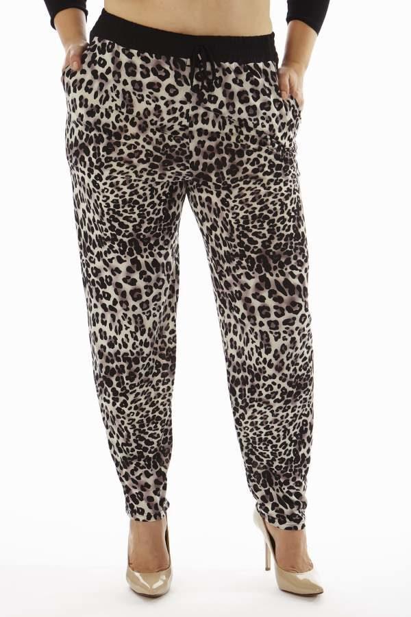 Leopard Print Plus Size Soft Pants