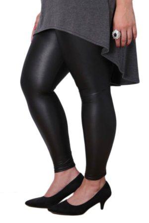 Wholesale Plus-Size Black Leather Leggings (Assorted Bundle 1X-2X-3X)