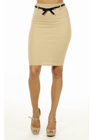 Sand High Pencil Skirt