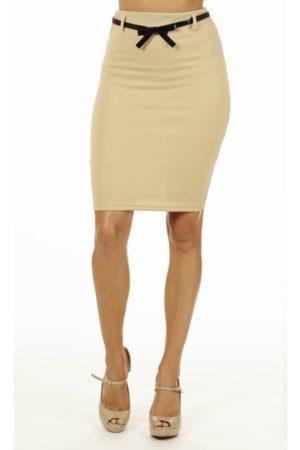 Sand High Pencil Skirt