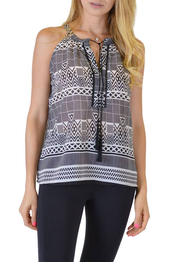 Black Anil Tank Top