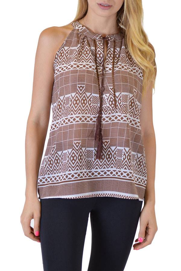 Chocolate Anil Tank Top