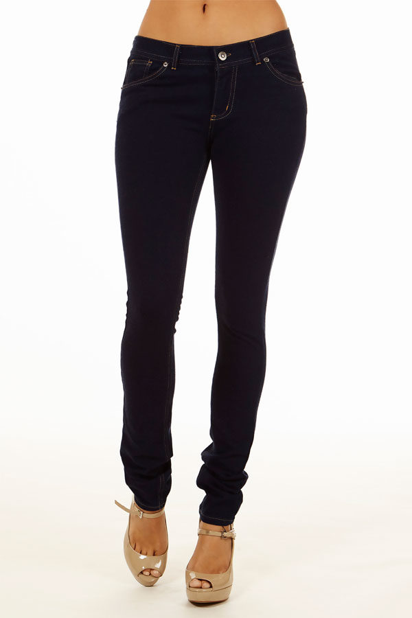 Jeans Moleton Stretchy Jeggings with Pockets