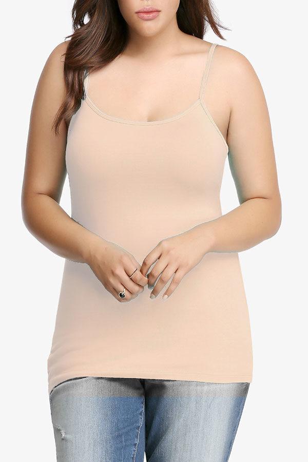 Peach Plus Size Seamless Cami Tank Top