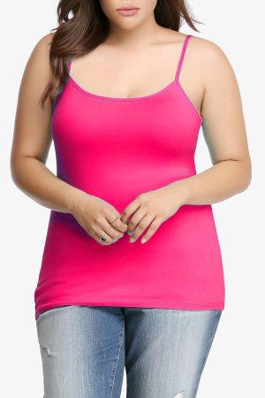 Pink Plus Size Seamless Cami Tank Top