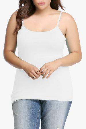 White Plus Size Seamless Cami Tank Top