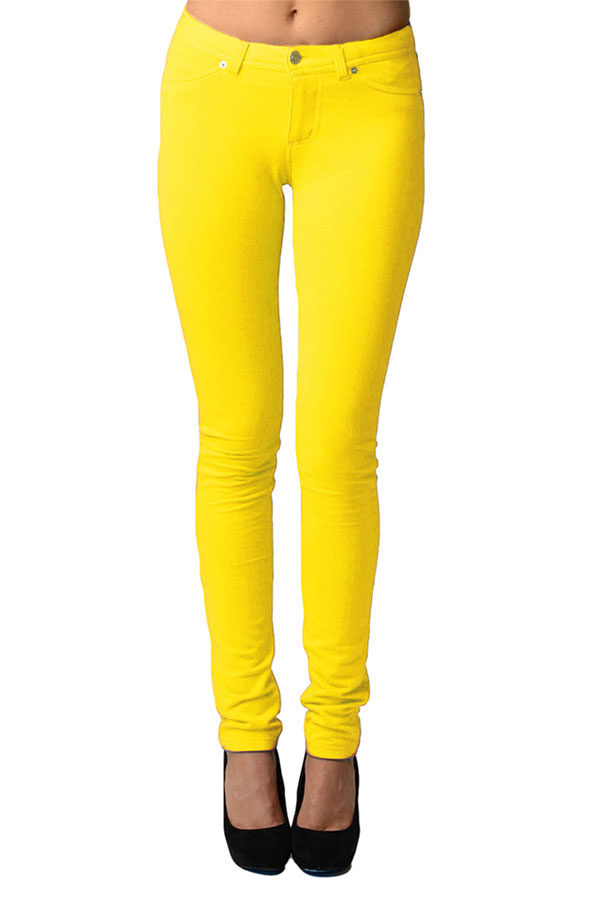 Banana Moleton Stretchy Jeggings with Pockets