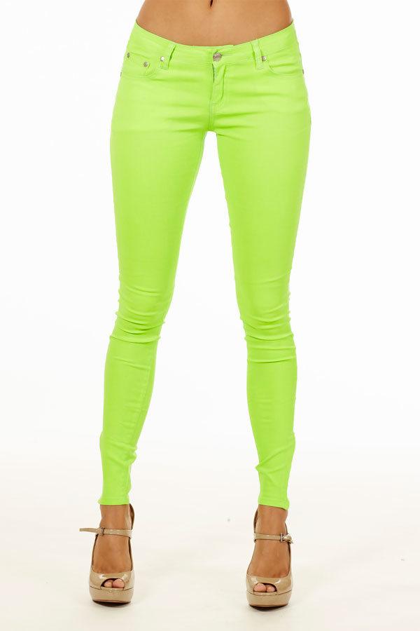 Hot Green Skinny Jeans