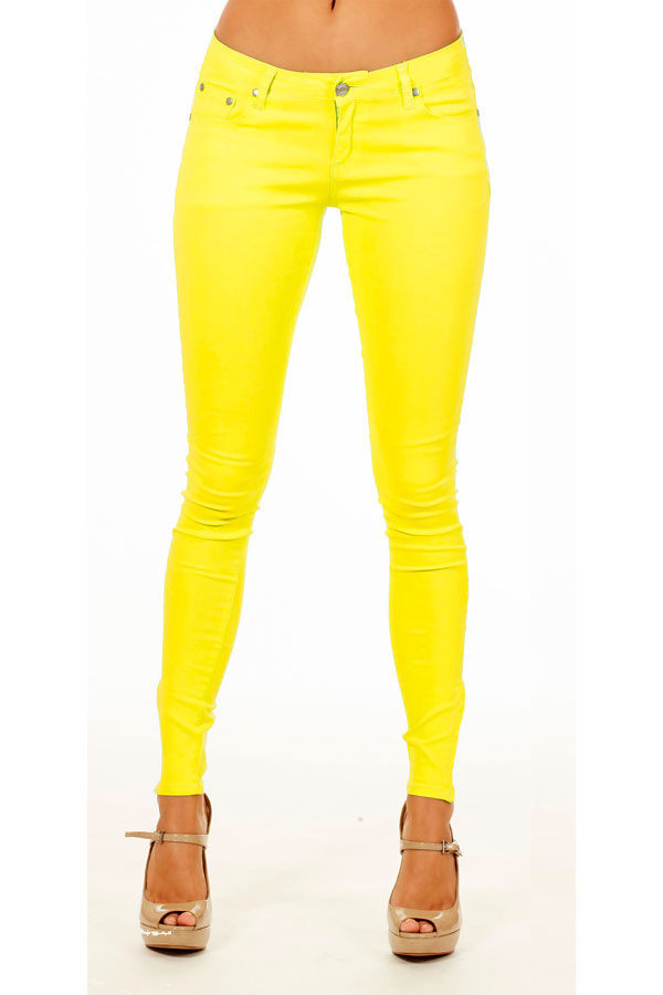 Hot Yellow Skinny Jeans