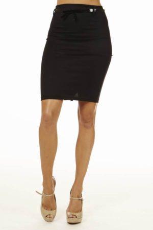 Black High Pencil Skirt