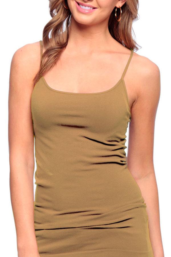Khaki Missy Cami Tank Top
