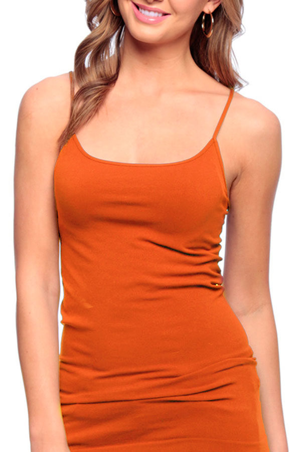 Orange Missy Cami Tank Top