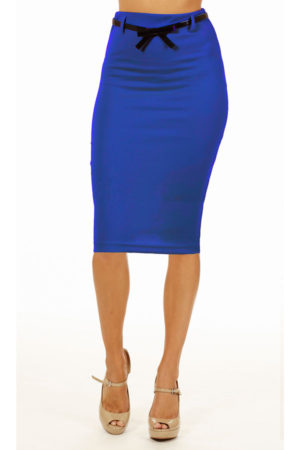 Royal Below Knee Pencil Skirt