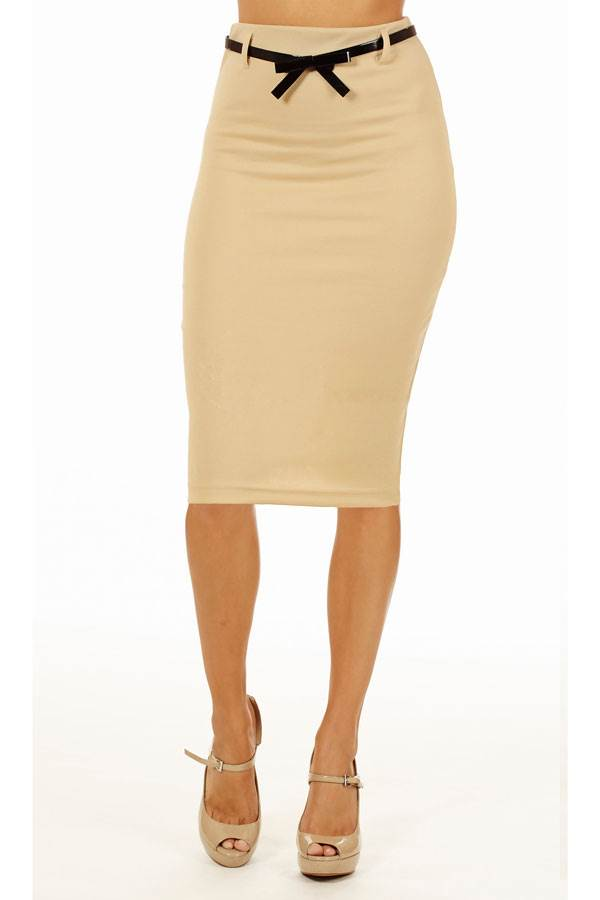 sand below knee pencil skirt fashion outlet nyc