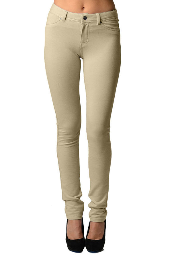 Stone Moleton Stretchy Jeggings with Pockets