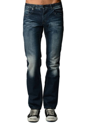 Creases Wash Blue Denim Boot Cut Jeans