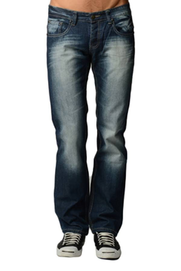 premium navy denim boot cut jeans