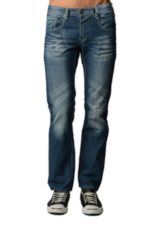 Low Waist Premium Scratch Wash Denim