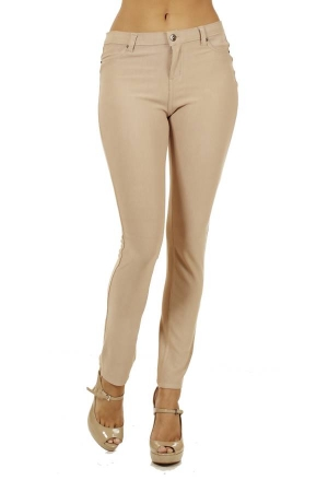 Khaki 5 Pocket Skinny Pants