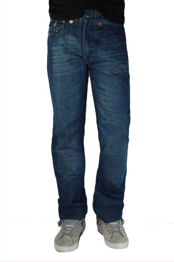 Blue Denim Boot Cut Jeans