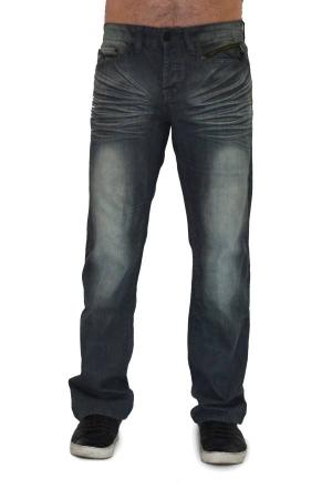 Grey Wash Black Denim Jeans