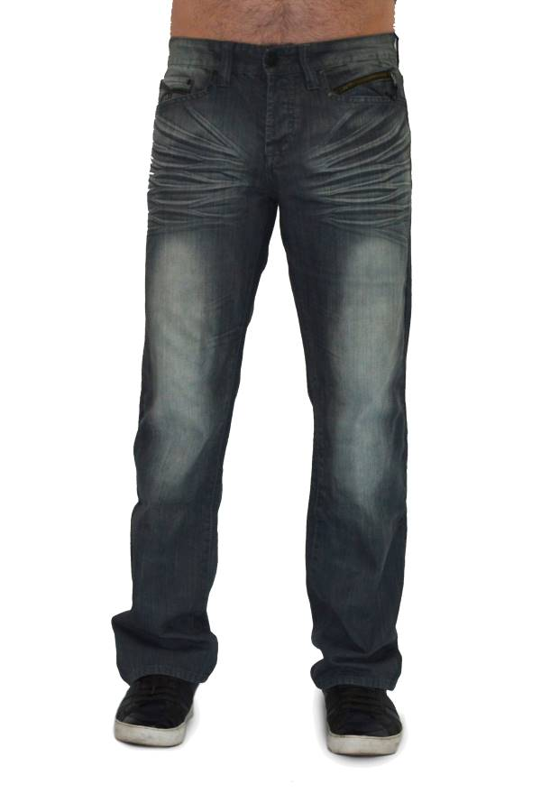 Grey Wash Black Denim Jeans