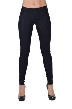 Black All-Over Lace Pants
