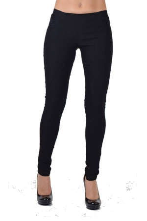 black pocket lace line pants