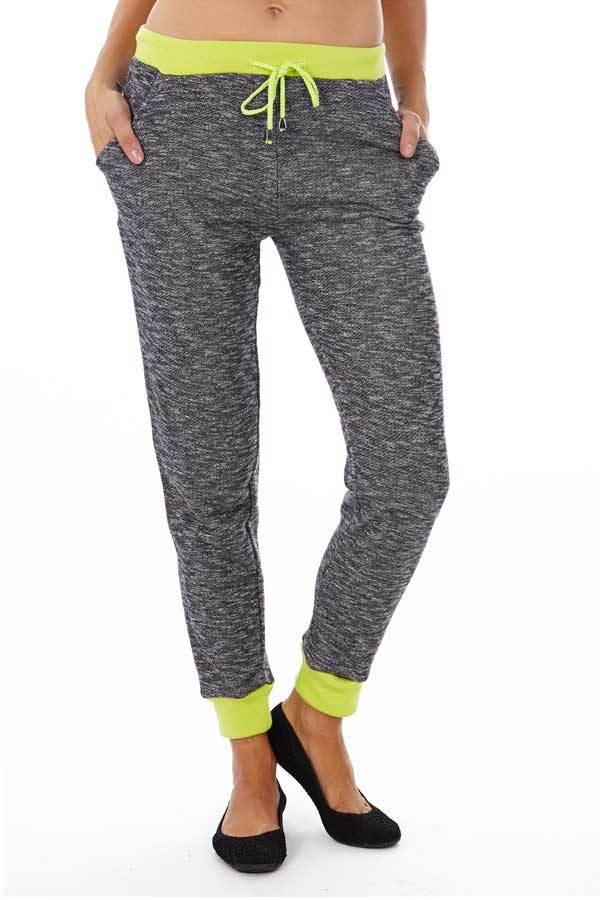 Neon Green Heather French Terry Joggers