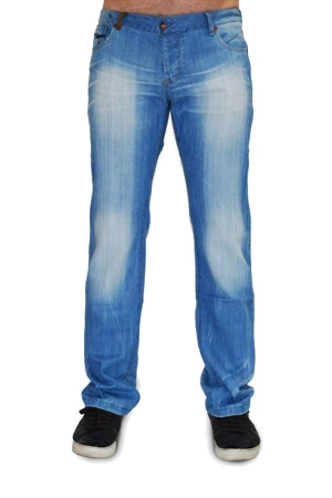 Light Blue Straight Denim Jeans