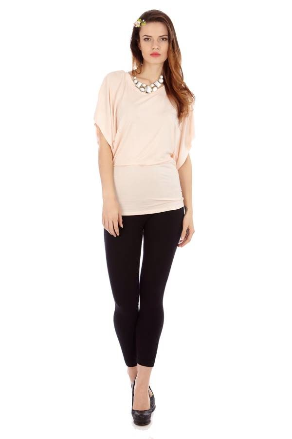 Light Pink Flowing Angel Tunic Blouse