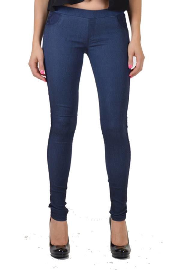 Jeans pocket line lace pants