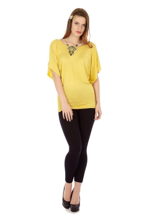 Our Dark Yellow Flowing Angel Tunic Blouse