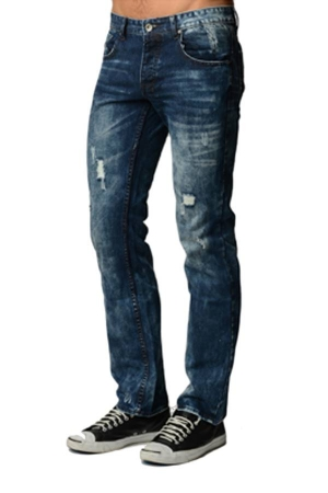 Blue Acid Wash Denim Jeans