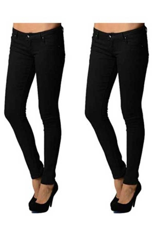 2 Pack Junior 5 Pocket Skinny Uniform Pants