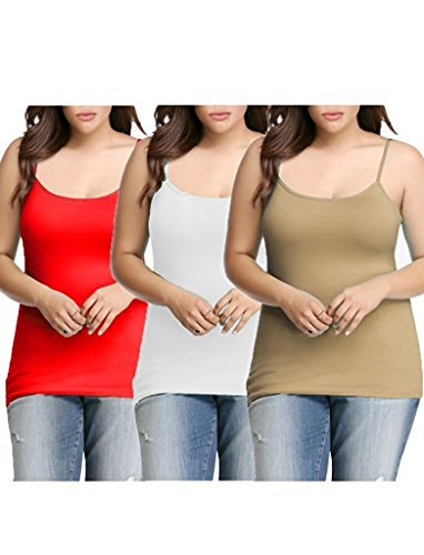 Womens Plus Size Seamless Cami Tank Top