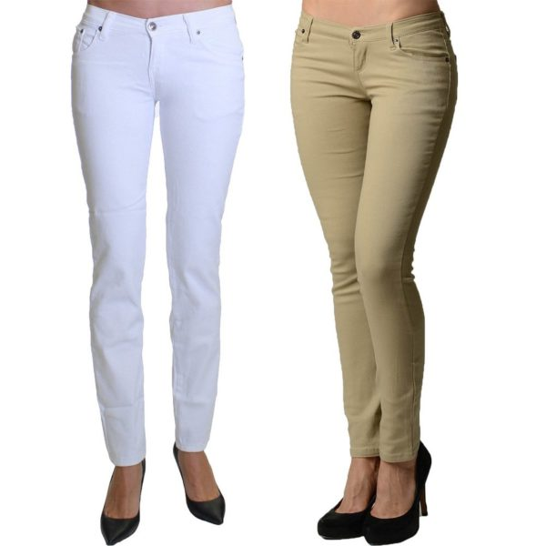 2 Pack Dinamit Juniors 5 Pocket Skinny Uniform Pants