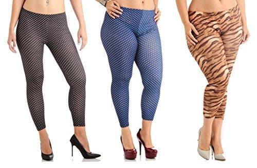 3 Pack Plus Size Printed Leggings Deal